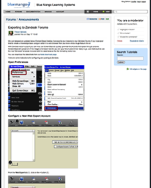 Example post: Zendesk Forum Post created with ScreenSteps Pro